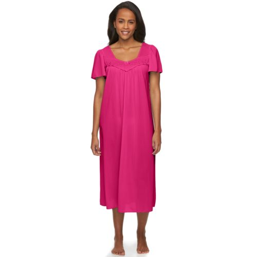 Miss Elaine Essentials Pajamas: Tricot Nightgown - Women's