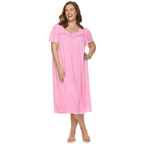 Plus Size Miss Elaine Essentials Pajamas  Long Tricot Nightgown d16753e2e