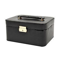 Bey-Berk Lizard Leather Jewelry Box, Valet & Travel Case Set