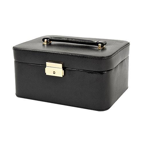 Bey berk lizard leather jewelry box valet and travel case set for Bey berk jewelry box