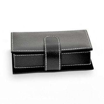 Bey-Berk Black Leather Jewelry Case