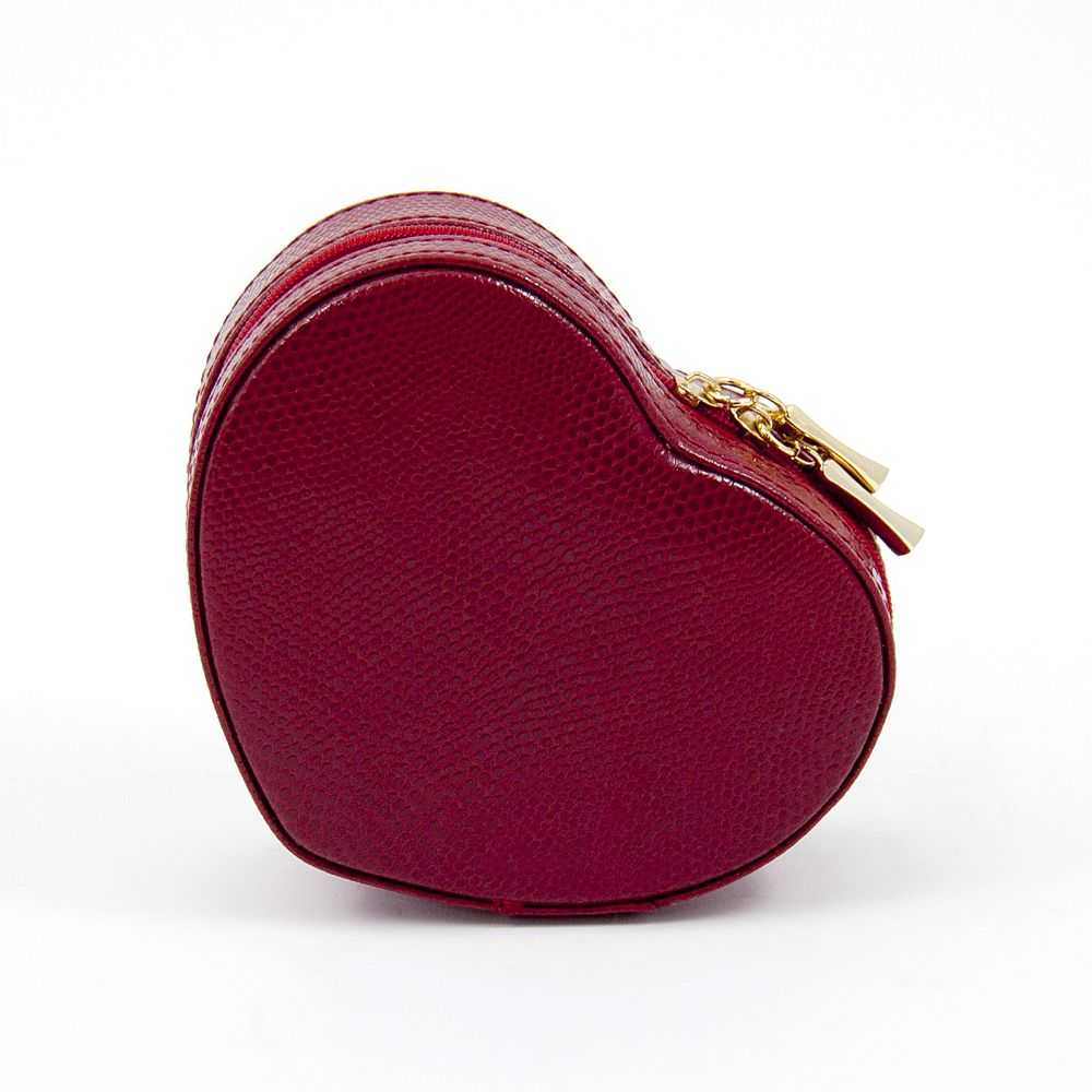 Bey-Berk Leather Heart Jewelry Box