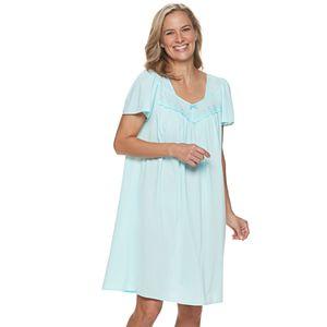 Women's Miss Elaine Essentials Pajamas: Short Tricot Nightgown
