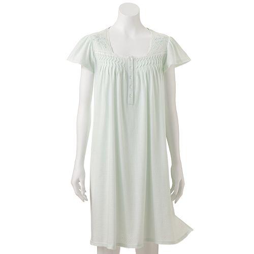 85c669e3f724b Plus Size Miss Elaine Essentials Pajamas  Silkyknit Textured Nightgown