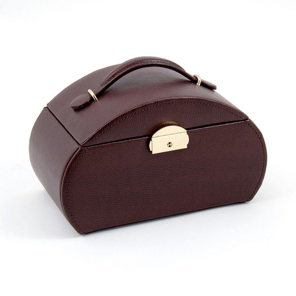 Bey-Berk Brown Leather Jewelry Box