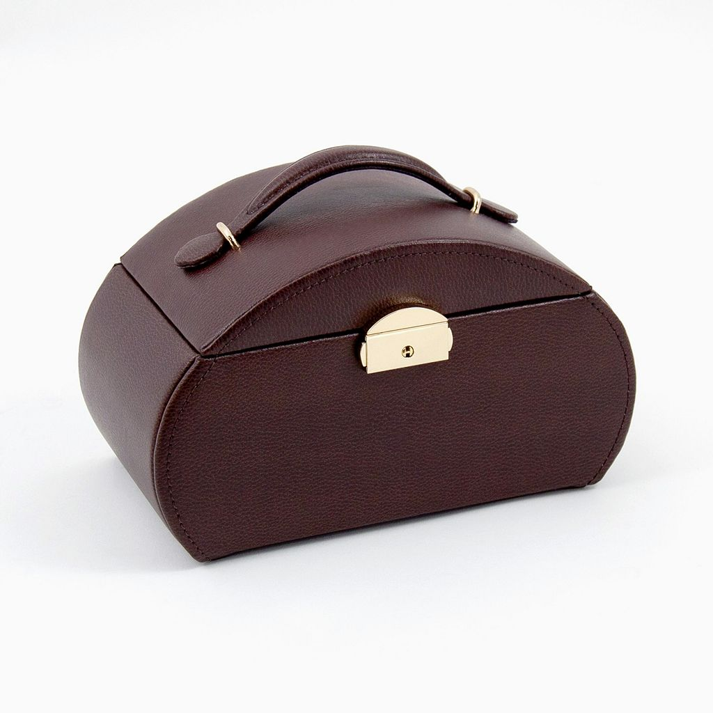 Bey-Berk Brown Leather Jewelry Box