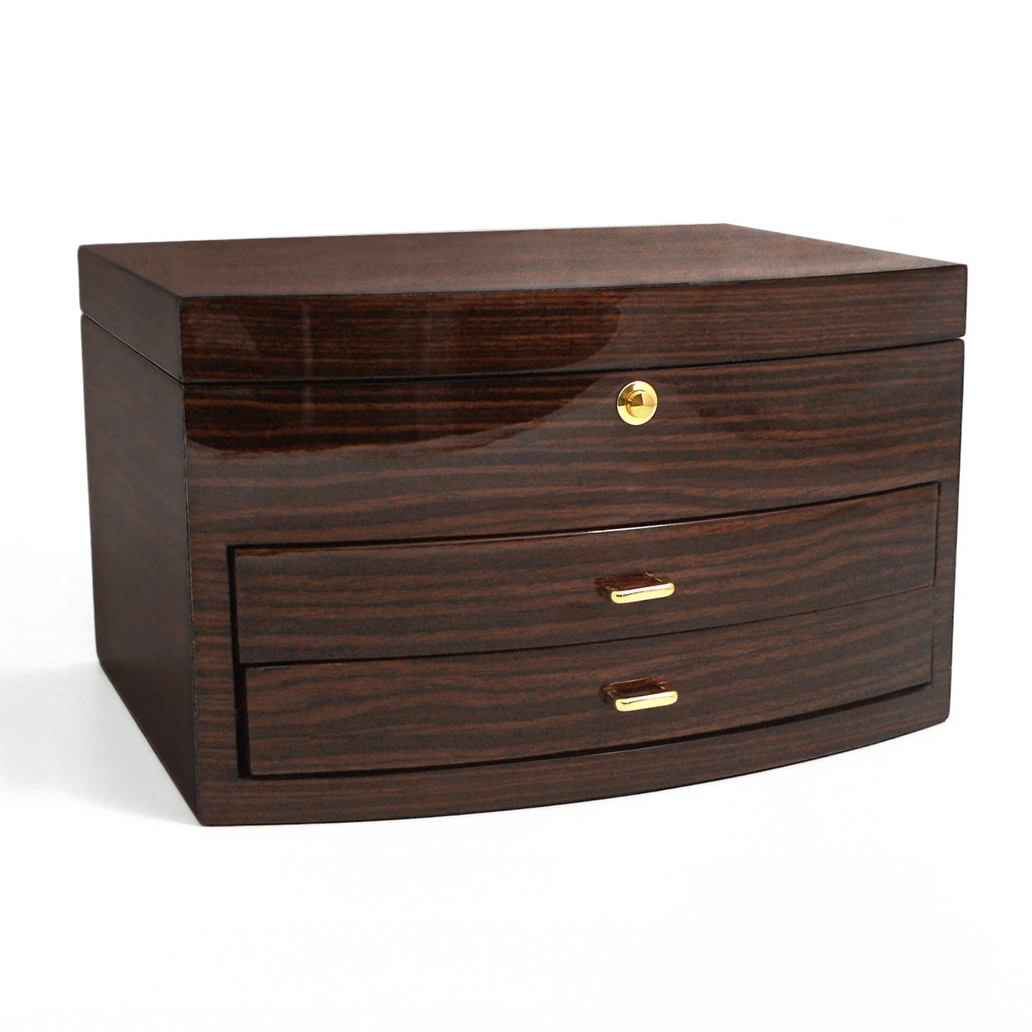 Berk Brown Zebra Wood Jewelry Box
