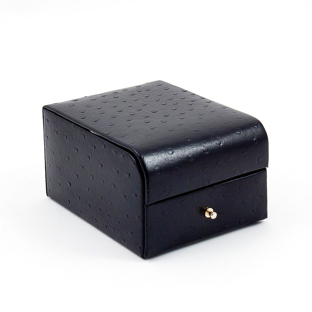 Bey-Berk Ostrich Leather Jewelry Case