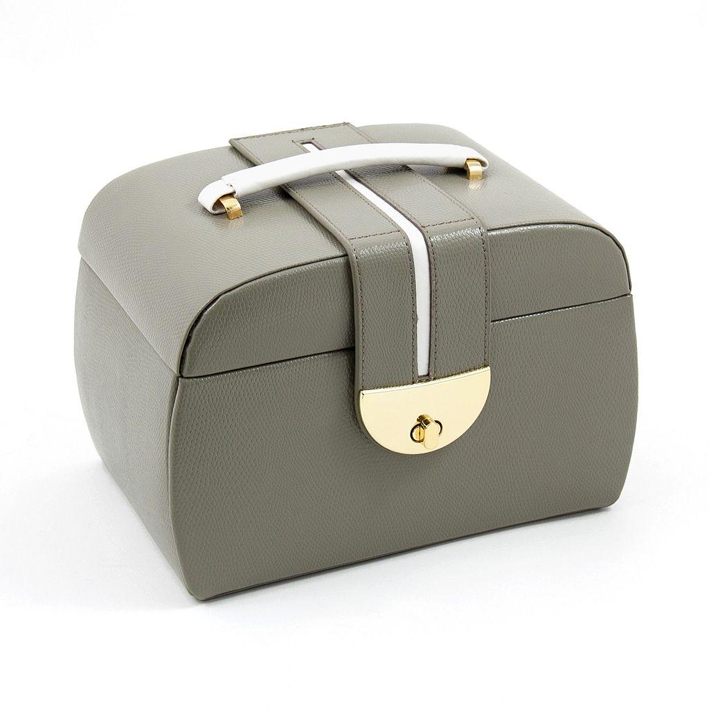 Bey-Berk Olive Leather Jewelry Box & Travel Roll Set