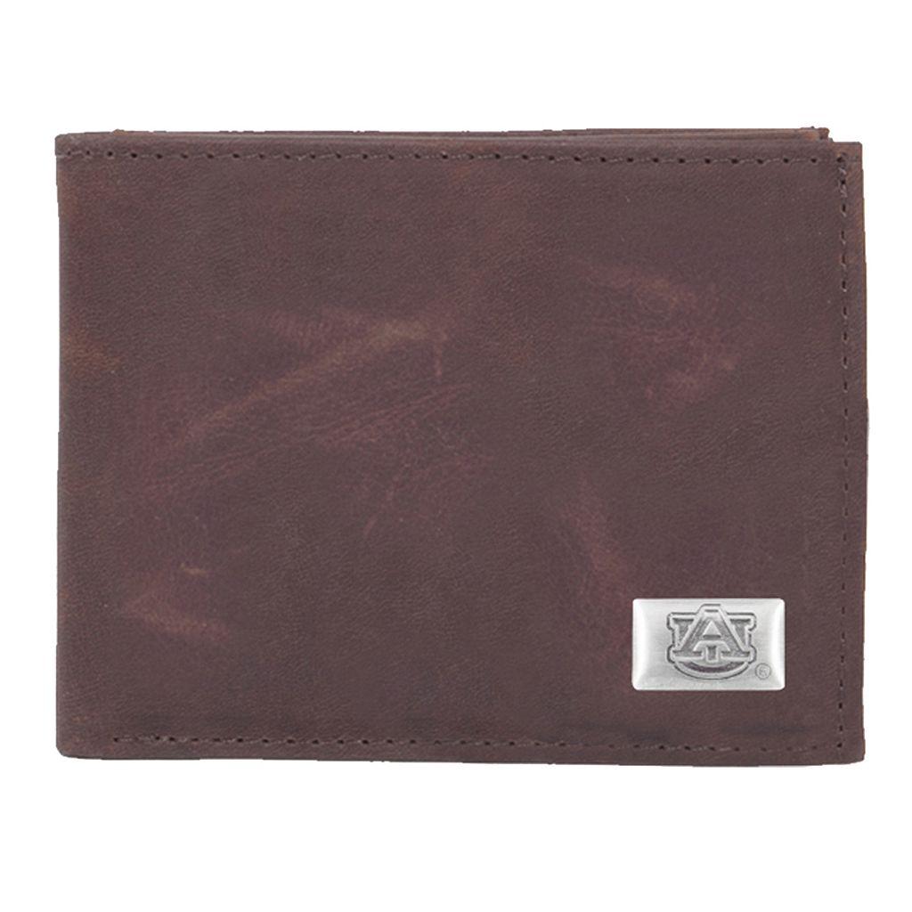 Auburn Tigers Leather Bifold Wallet