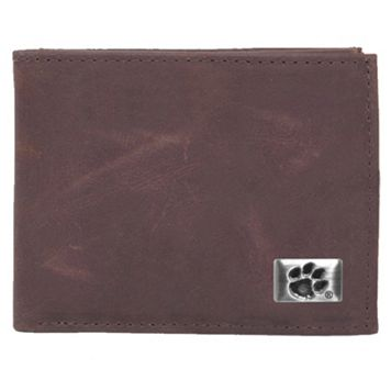 Clemson Tigers Leather Bifold Wallet