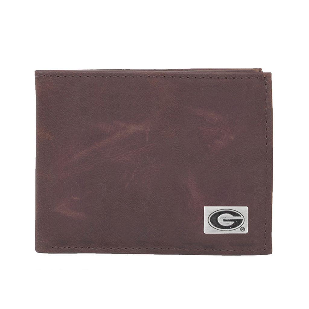 Georgia Bulldogs Leather Bifold Wallet