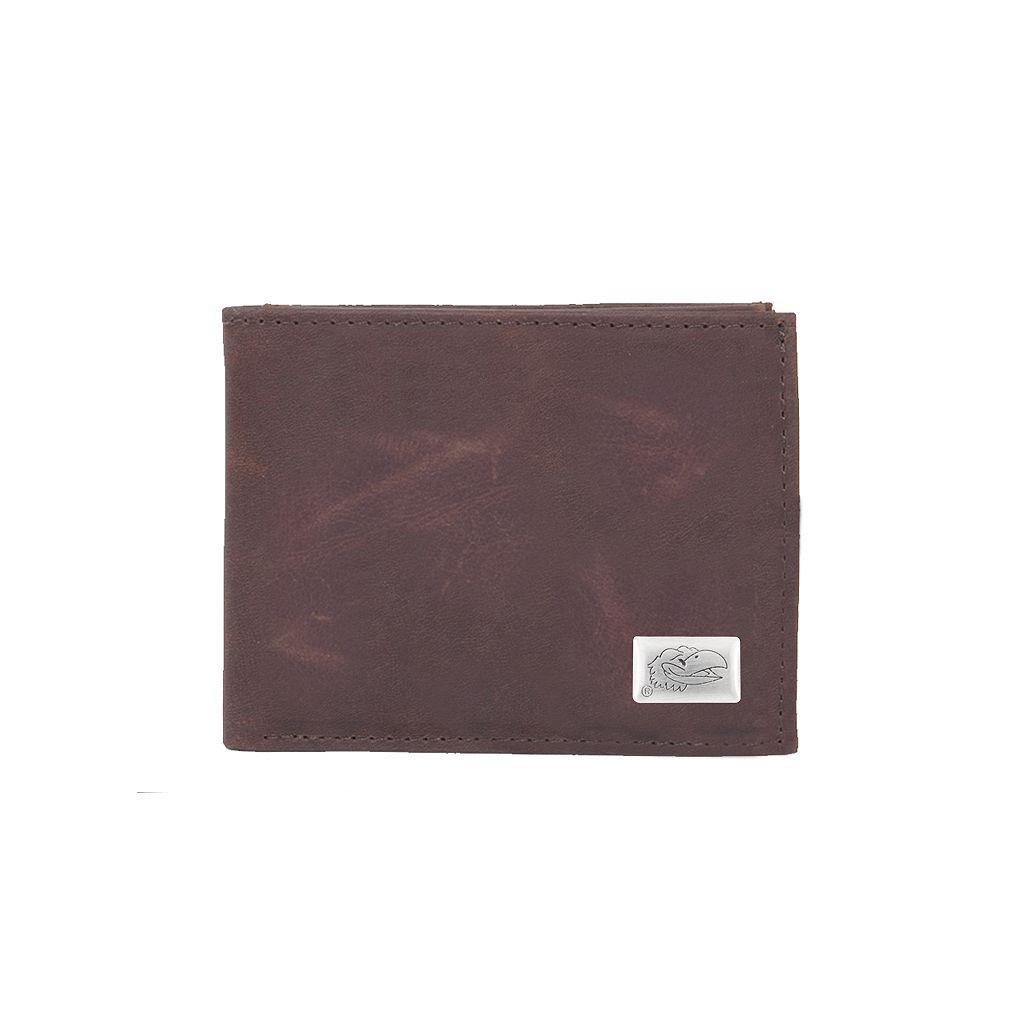 Kansas Jayhawks Leather Bifold Wallet