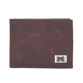 Michigan Wolverines Leather Bifold Wallet