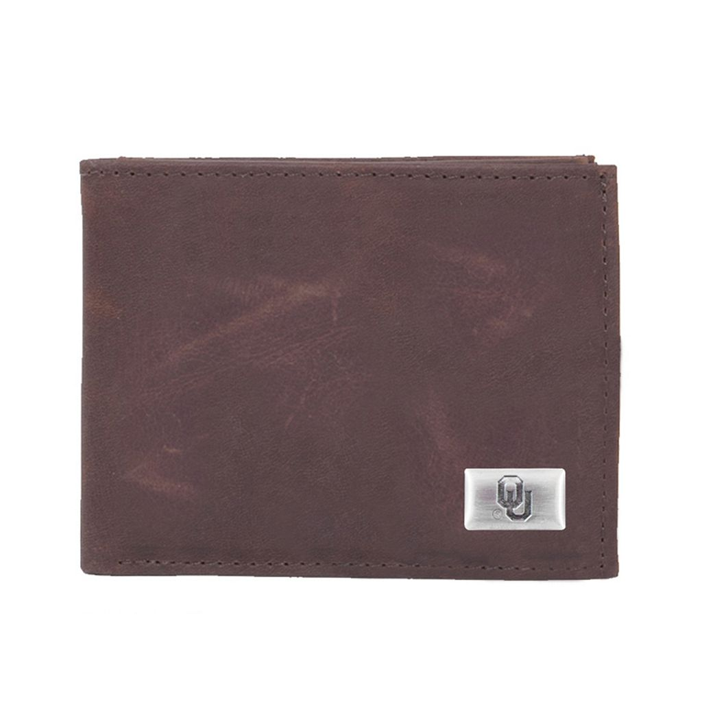 Oklahoma Sooners Leather Bifold Wallet