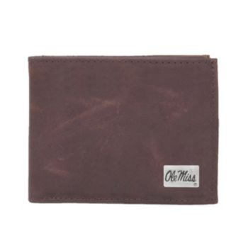Ole Miss Rebels Leather Bifold Wallet