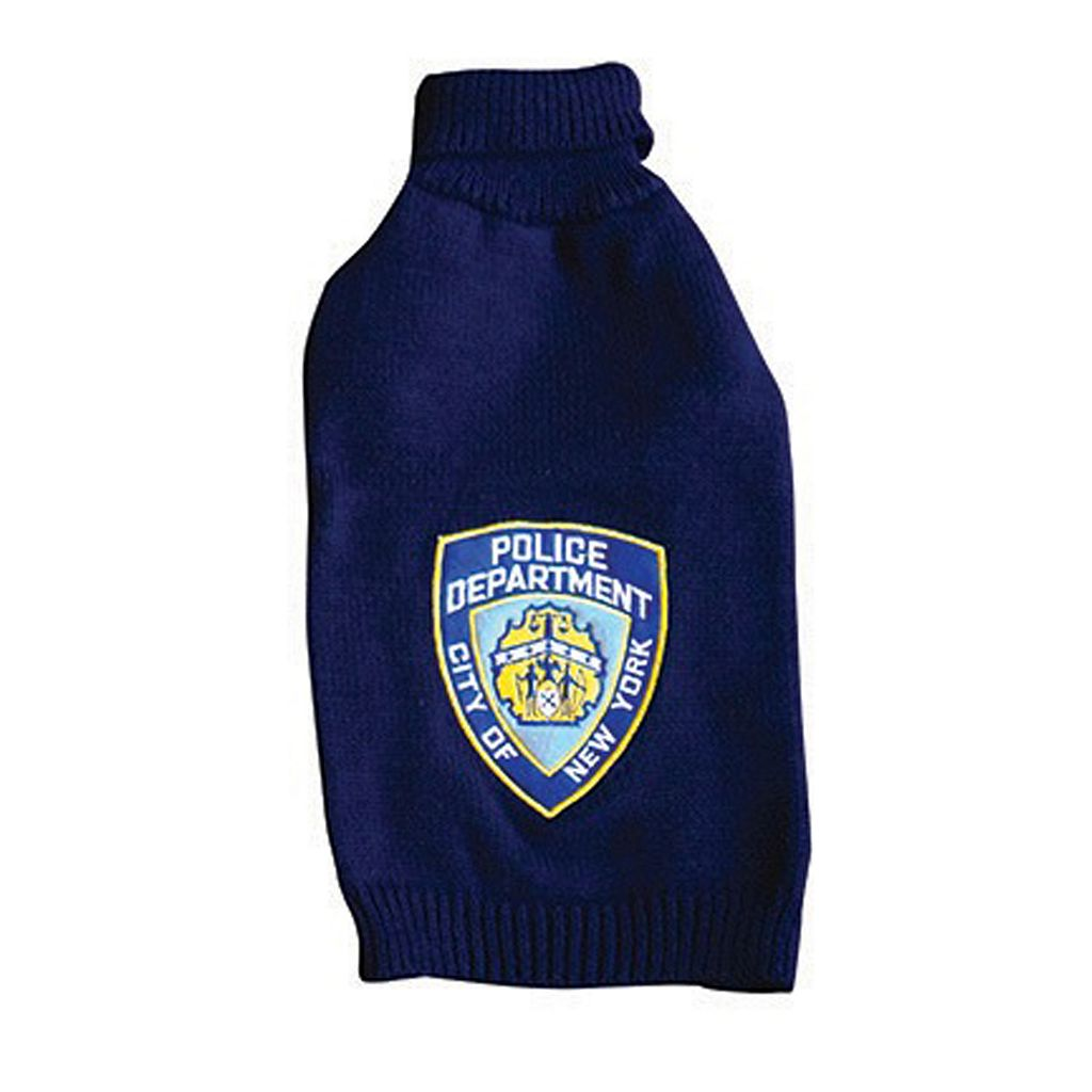 Royal Animals NYPD Police Badge Dog Sweater