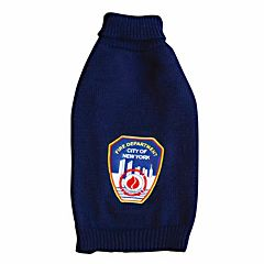 Royal Animals FDNY Fire Badge Dog Turtleneck Sweater