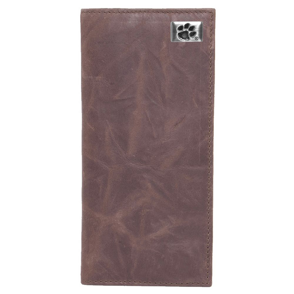 Clemson Tigers Leather Secretary Wallet