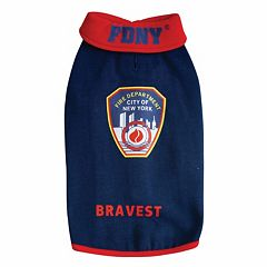 Royal Animals FDNY Fire Badge Dog Sweatshirt