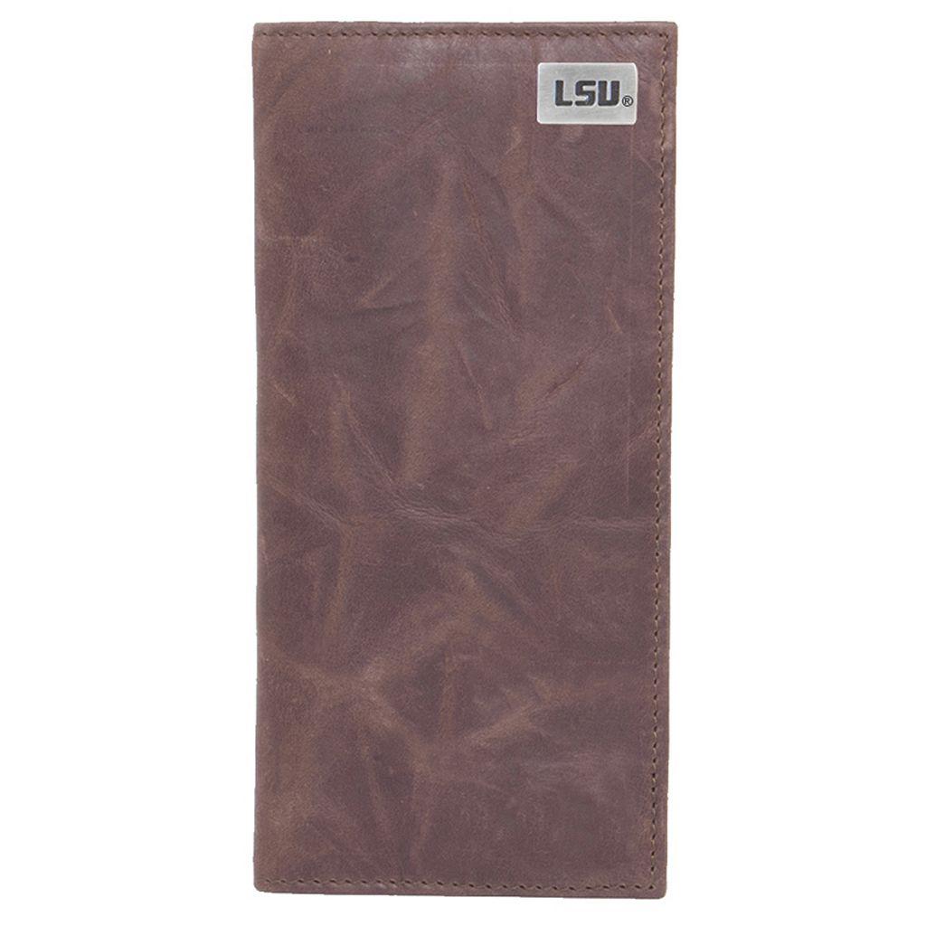 LSU Tigers Leather Secretary Wallet