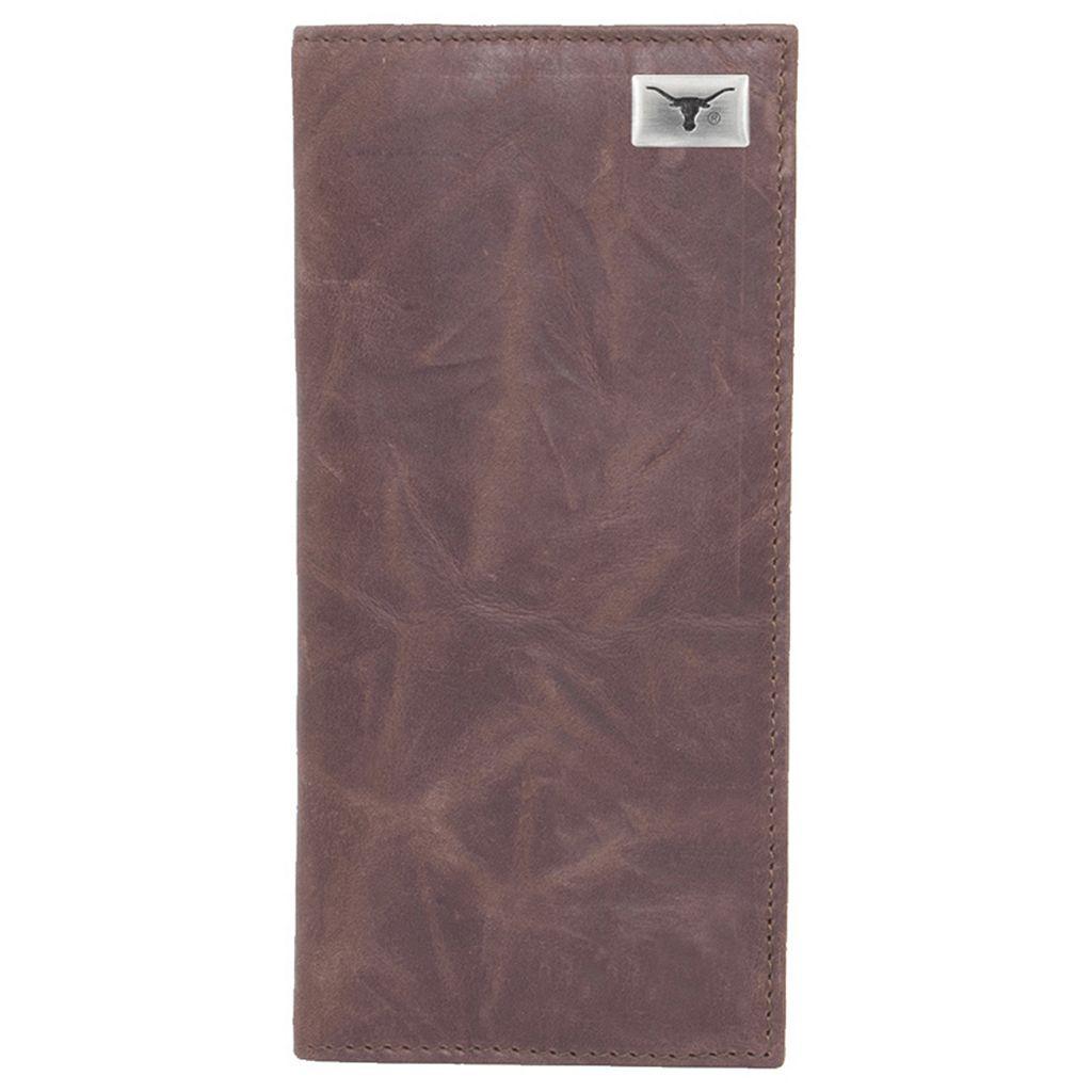 Texas Longhorns Leather Secretary Wallet
