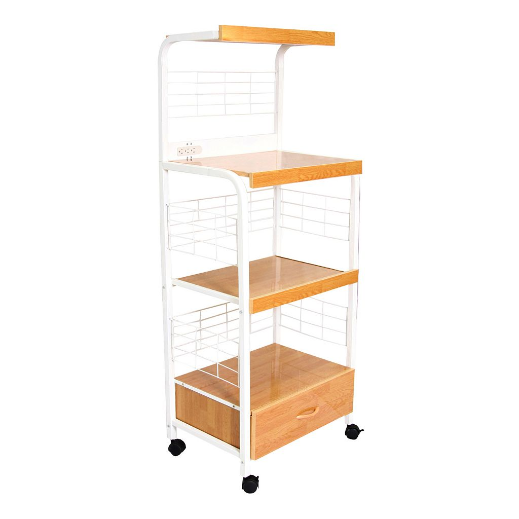 Wire Rack Microwave Cart