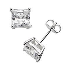 Sterling Silver Cubic Zirconia Stud Earrings