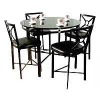 5 pc Counter-Height Dining Table & Chairs Set