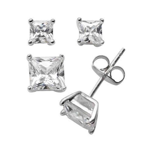 Sterling Silver Cubic Zirconia...