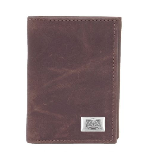 Auburn Tigers Leather Trifold Wallet