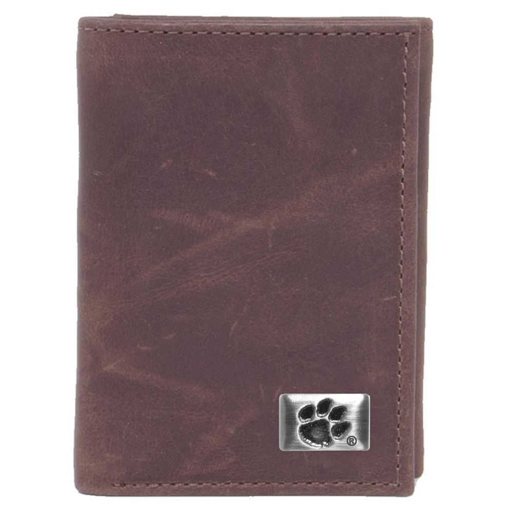 Clemson Tigers Leather Trifold Wallet
