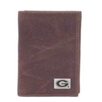 Georgia Bulldogs Leather Trifold Wallet
