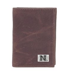 Nebraska Cornhuskers Leather Trifold Wallet