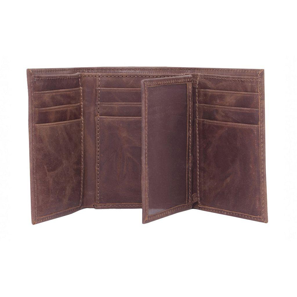 Nebraska Cornhuskers Leather Trifold Wallet