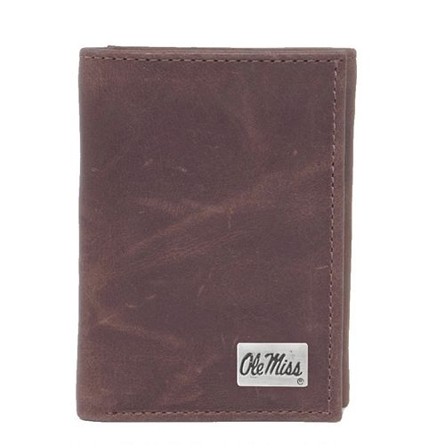 Ole Miss Rebels Leather Trifold Wallet