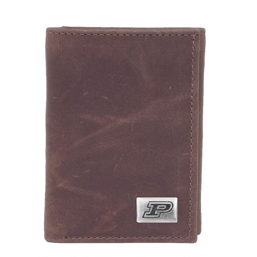 Purdue Boilermakers Leather Trifold Wallet