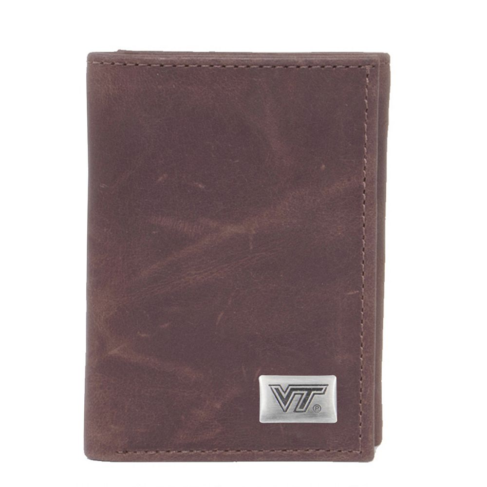 Virginia Tech Hokies Leather Trifold Wallet