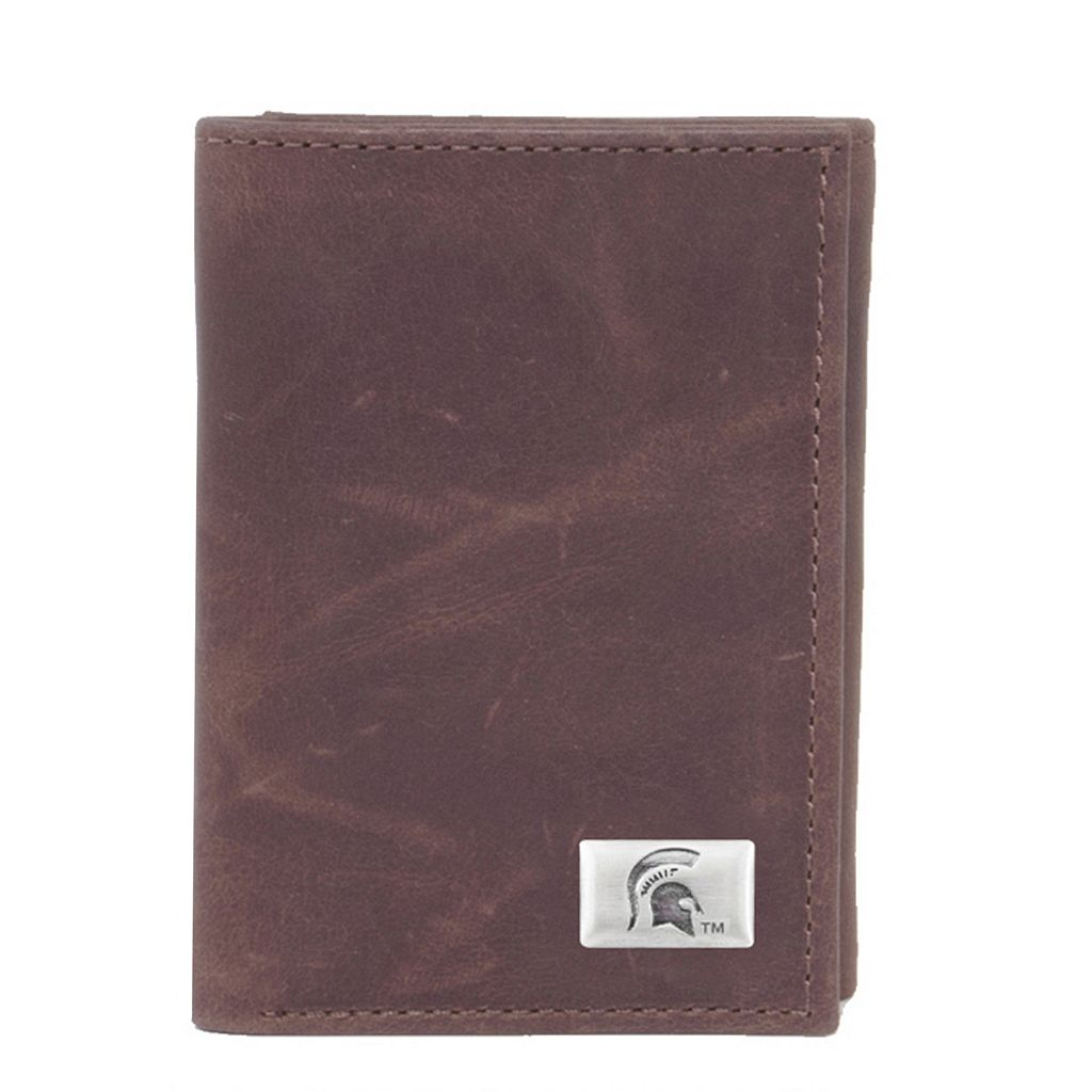 Michigan State Spartans Leather Trifold Wallet