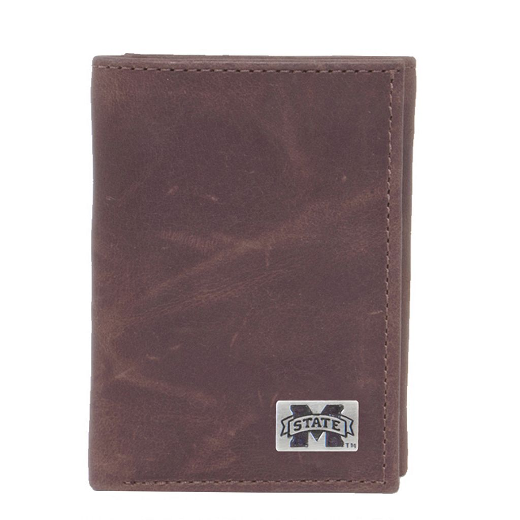 Mississippi State Bulldogs Leather Trifold Wallet