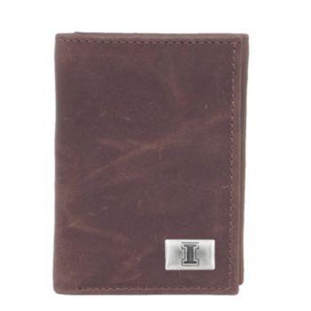 Illinois Fighting Illini Leather Trifold Wallet