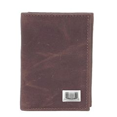 Miami Hurricanes Leather Trifold Wallet
