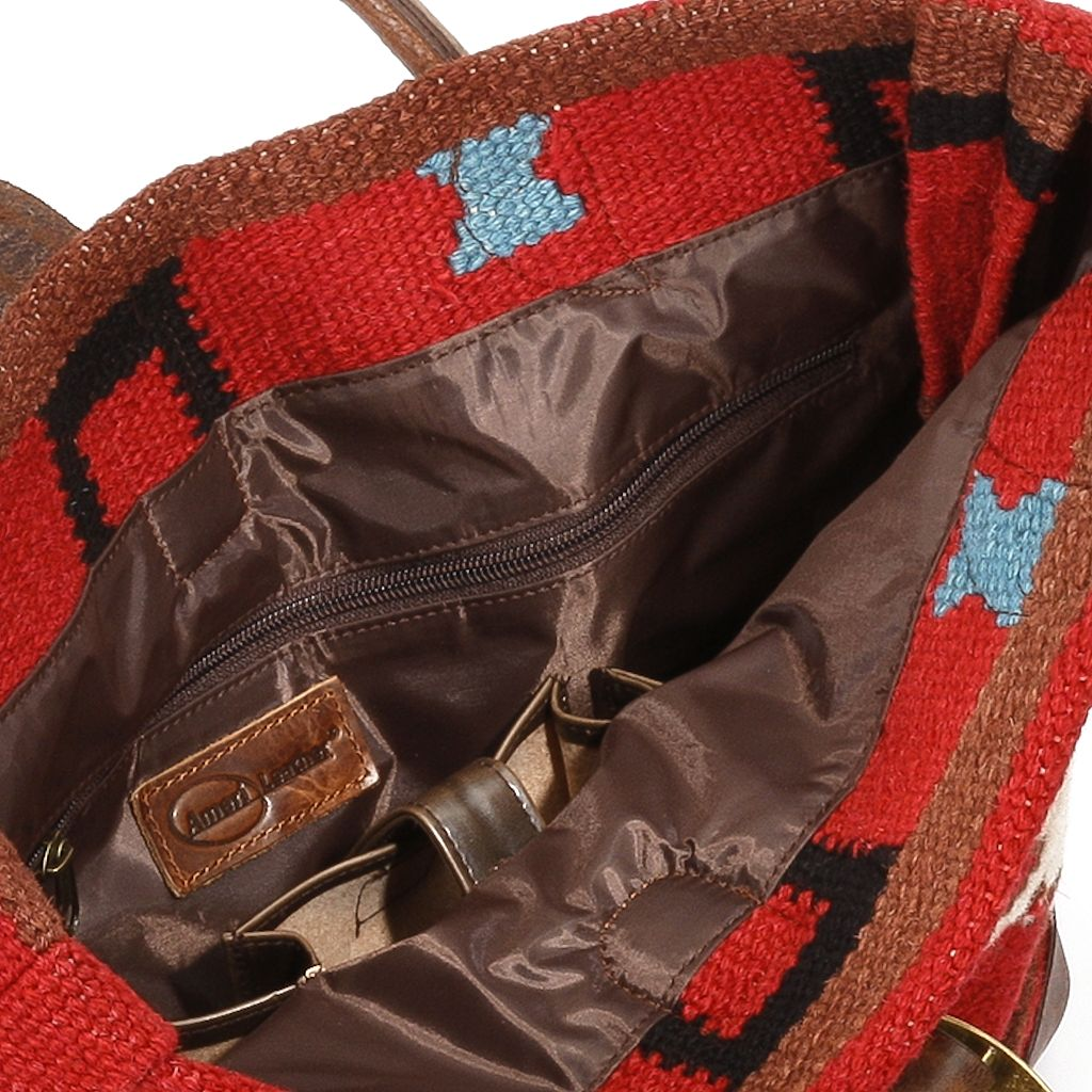 AmeriLeather Roamer Wool Tote