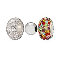 Individuality Beads Sterling Silver Crystal & Spacer Bead Set