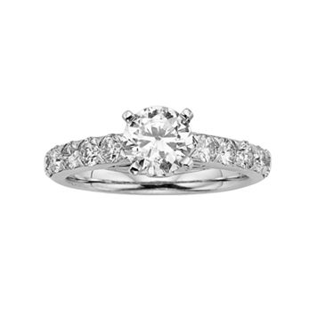 Round-Cut IGL Certified Colorless Diamond Engagement Ring in 18k White Gold (1 3/4 ct. T.W.)