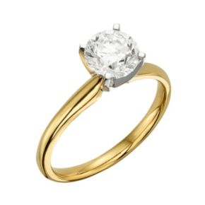 Round-Cut IGL Certified Colorless Diamond Solitaire Engagement Ring in 18k Gold (1 1/2 ct. T.W.)