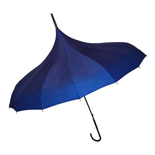 BlueAvocado XO(eco) Red Micro Dot Umbrella by Lauren Conrad