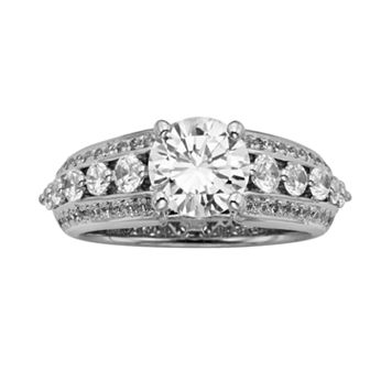 Round-Cut IGL Certified Diamond Engagement Ring in 14k White Gold (2 1/2 ct. T.W.)