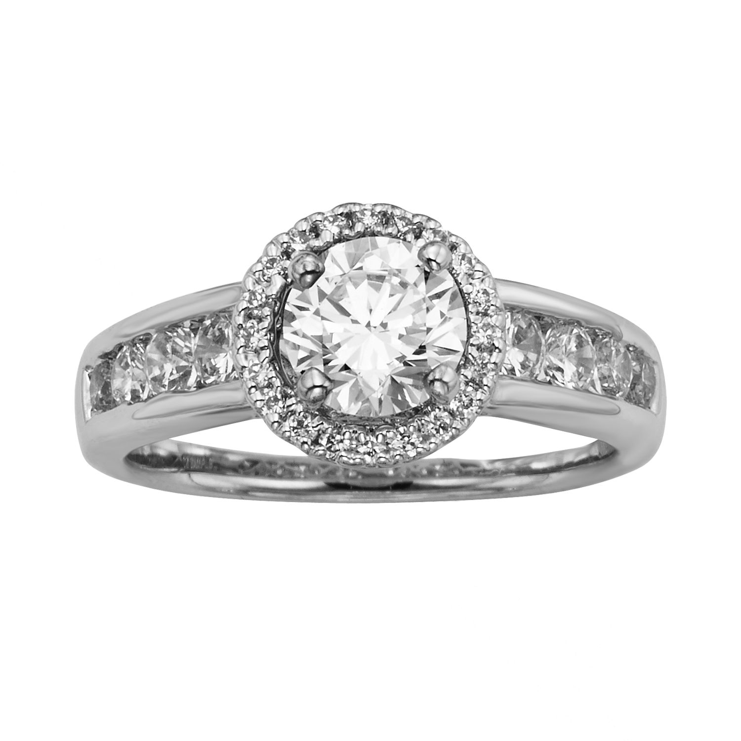 Baguette And Round Wedding Band 18 Good Round Cut IGL Certified