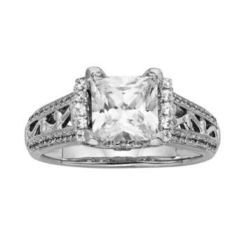 Princess-Cut IGL Certified Diamond Engagement Ring in 14k White Gold (2 ct. T.W.)